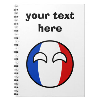 Funny Trending Geeky France Countryball Spiral Notebook