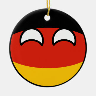 Funny Trending Geeky Germany Countryball Christmas Ornament