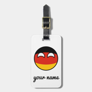 Funny Trending Geeky Germany Countryball Luggage Tag
