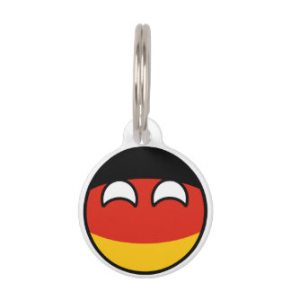 Funny Trending Geeky Germany Countryball Pet ID Tag