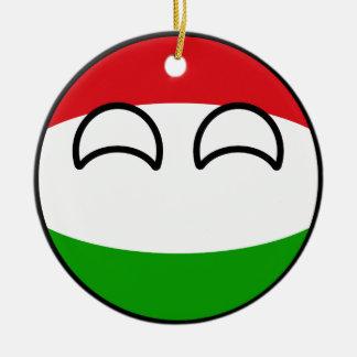 Funny Trending Geeky Hungary Countryball Christmas Ornament