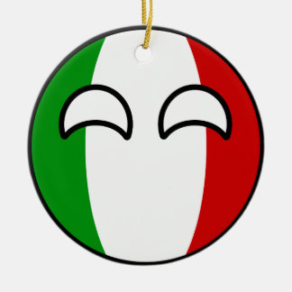 Funny Trending Geeky Italy Countryball Christmas Ornament