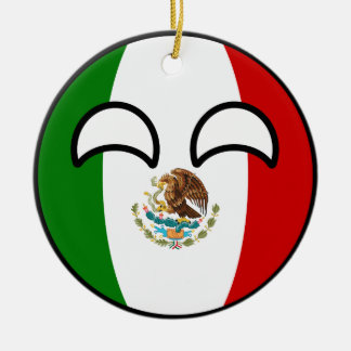 Funny Trending Geeky Mexico Countryball Christmas Ornament