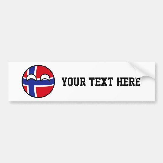 Funny Trending Geeky Norway Countryball Bumper Sticker