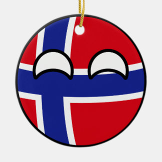 Funny Trending Geeky Norway Countryball Christmas Ornament