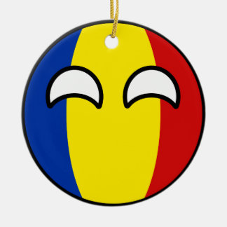 Funny Trending Geeky Romania Countryball Christmas Ornament