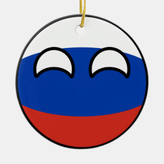 Funny Trending Geeky Russia Countryball Christmas Ornament