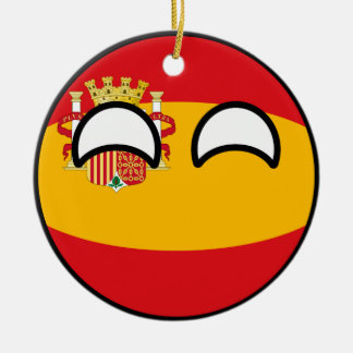 Funny Trending Geeky Spain Countryball Christmas Ornament