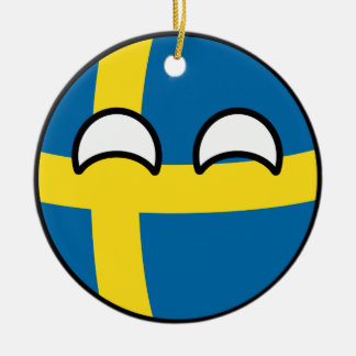 Funny Trending Geeky Sweden Countryball Christmas Ornament