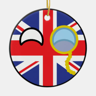 Funny Trending Geeky United Kingdom Countryball Christmas Ornament