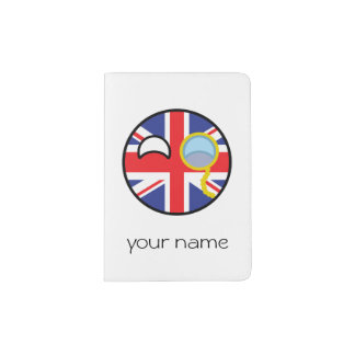 Funny Trending Geeky United Kingdom Countryball Passport Holder