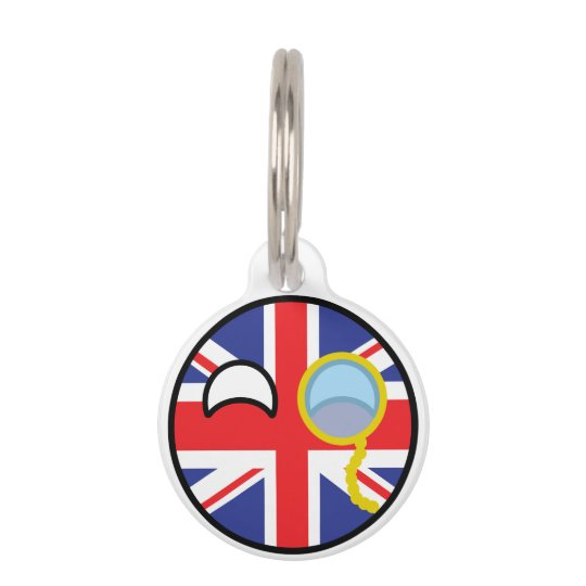 Funny Trending Geeky United Kingdom Countryball Pet Tag