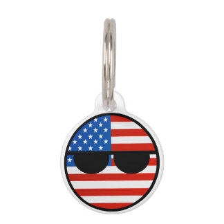 Funny Trending Geeky USA Countryball Pet Tags
