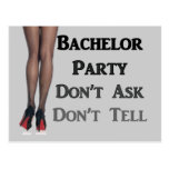 Funny trendy Modern Geek Bachelor Party Fashion Post Card