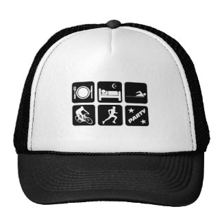 Funny triathlon trucker hat