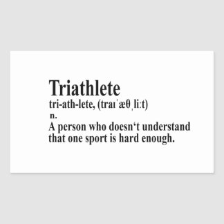 Funny Triathlon definition - Sticker