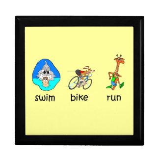 funny triathlon keepsake box