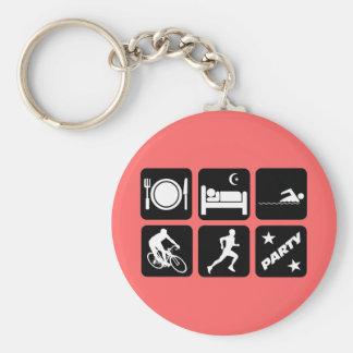 Funny triathlon keychain
