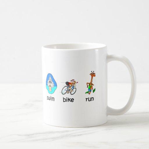 Funny triathlon mugs