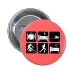 Funny triathlon pinback buttons