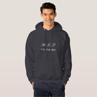 Funny triathlon quote pun hoodie