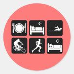 Funny triathlon stickers