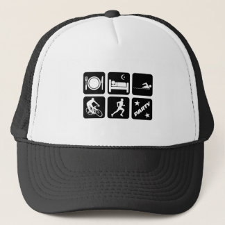 Funny triathlon trucker hat