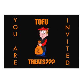 "Funny Trick or Treat Halloween 5"" X 7"" Invitation Card"