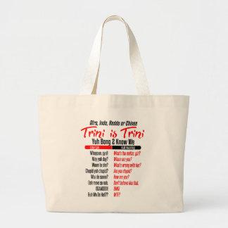 Funny Trini is Trini Large Tote Bag
