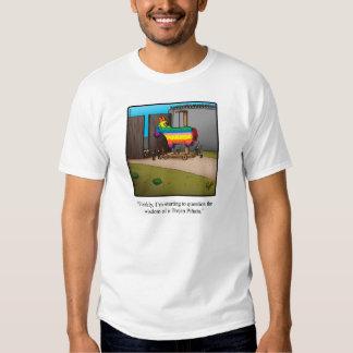 "Funny ""Trojan Pinata"" Humor Tee Shirt"