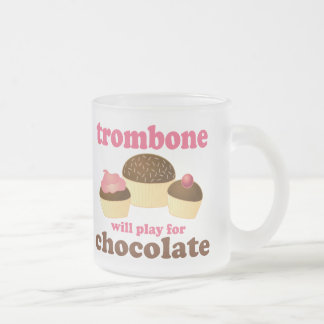 Funny Trombone Will Play for Chocolate Coffee Mugs