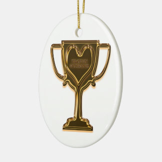 Funny Trophy Husband Rear View Ornament