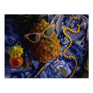 Funny Tropical Cool Pineapple Postcard