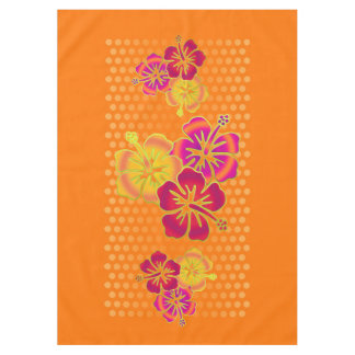 Funny Tropical Hibiscus Trio + your background Tablecloth