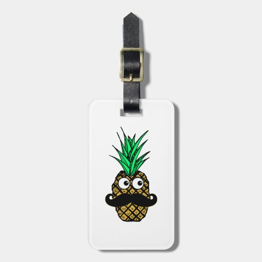 Funny Tropical Pineapple with Googly Eyes Luggage Tag