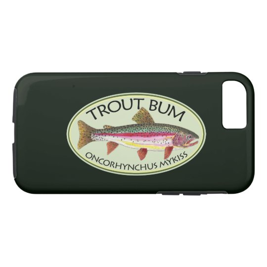 Funny Trout Bum Fisherman's iPhone 7 Case