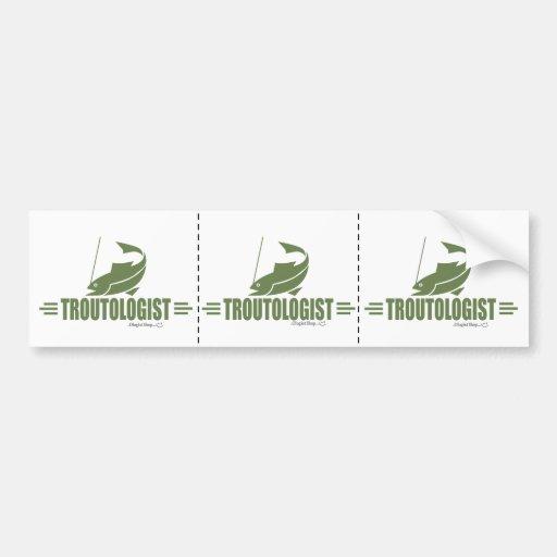 Funny Trout Fishing Bumper Sticker