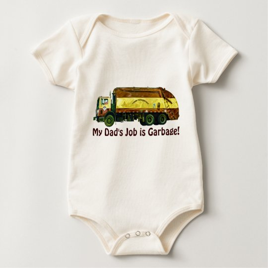 Funny Trucker Baby My Dad's Job is Garbage
