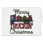 Funny Trucker Christmas Card