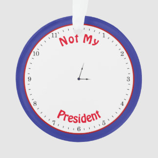 Funny Trump Clock Tiny Hands Clock Face Ornament