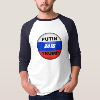 funny Trump Satirical Russian 3/4 T-Shirt 2016