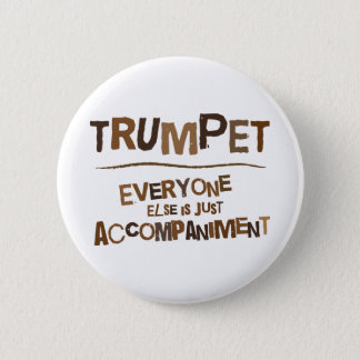 Funny Trumpet Gift 6 Cm Round Badge