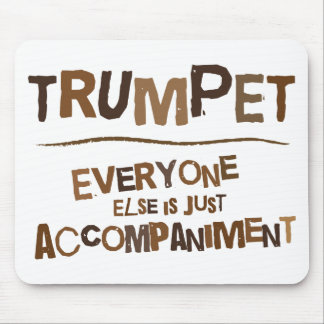 Funny Trumpet Gift Mouse Mat