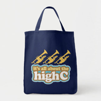 Funny Trumpet Humor High C Note Bag Gift