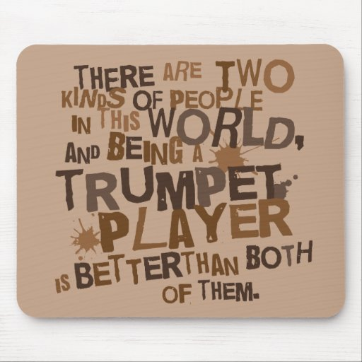 Funny Trumpet Joke Computer Gift Mousepad