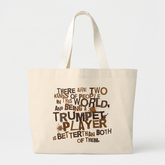Funny Trumpet Music Joke Canvas Tote Gift