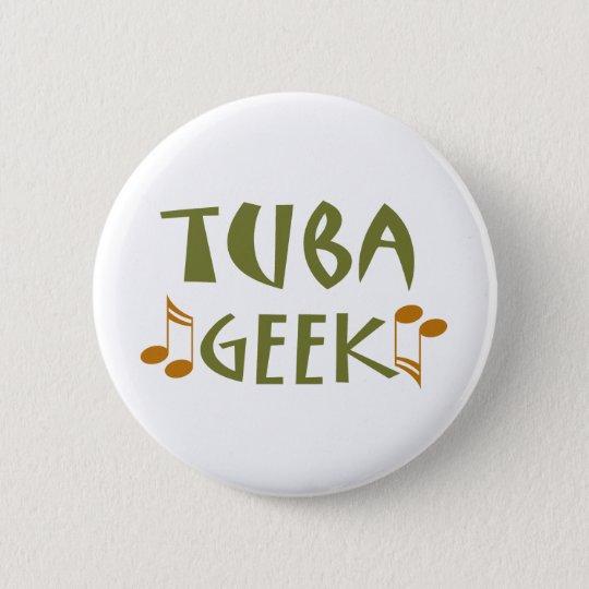 Funny Tuba Geek Gift 6 Cm Round Badge