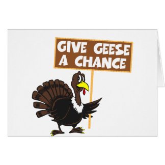 Funny Turkey spoof peace Card