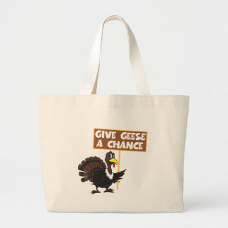 Funny Turkey spoof peace Large Tote Bag