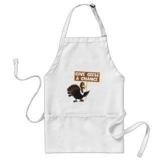 Funny Turkey spoof peace Standard Apron